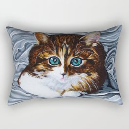 Whiskers the Cat Rectangular Pillow