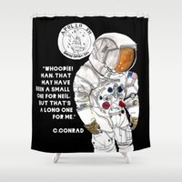nasa Shower Curtains featuring NASA Astronaut - Cristina Curto by Cristina Curto