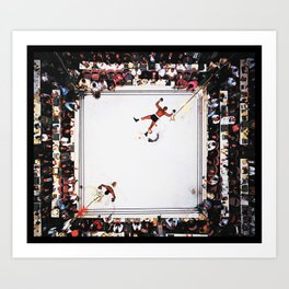 Muhammed Ali after knocking out Cleveland Williams Art Print
