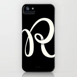 Alphabet Drop Caps Series- R iPhone Case