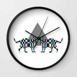 Geometric Cats Wall Clock