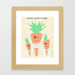 Insane Carrot Posse Framed Art Print