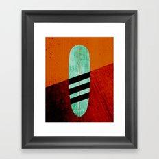 Mint Longboard Framed Art Print