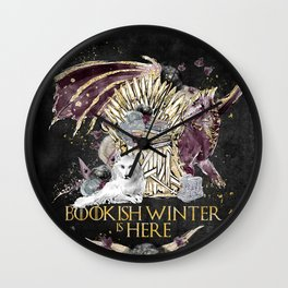 Bookis Winter is Here Wall Clock