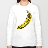 banana Long Sleeve T-shirts featuring Banana by June Chang Studio