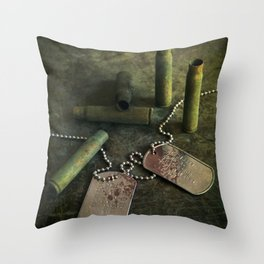 We were soldiers III Throw Pillow
