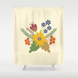 Autumn Fall Flower Bouquet Shower Curtain