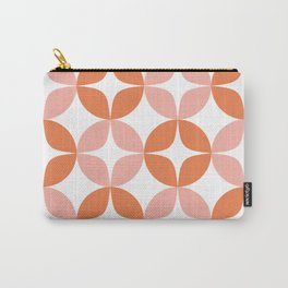 Mid Century Modern Motif Pattern in Burnt Orange and Blush Carry-All Pouch