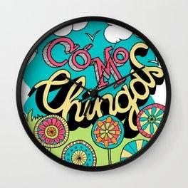 Como Chingas Wall Clock