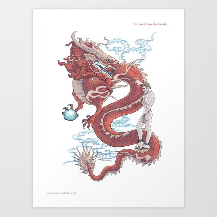 Treasure Dragon Art Print
