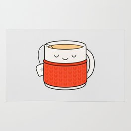 Keep warm, drink tea! Rug