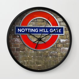 Notting Hill Gate Tube Sign Wall Clock