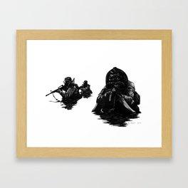 Combat Diver Framed Art Print