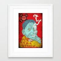 eddie vedder Framed Art Prints featuring Eddie by Alec Goss