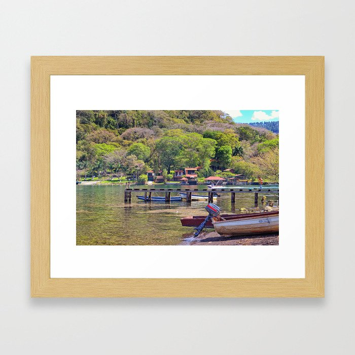 Gold lake Framed Art Print