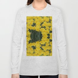 SPRING YELLOW DAFFODILS GARDEN DESIGN Long Sleeve T-shirt