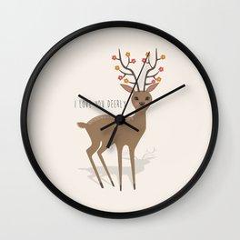 I love you deerly Wall Clock