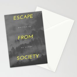 Escape from society (notebook) Stationery Cards