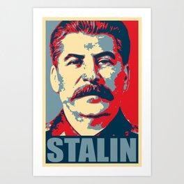 Stalin Propaganda Pop Art Art Print