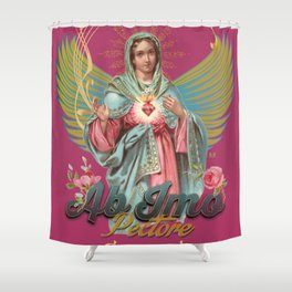 Mystical Virgin - Ab Imo Pectore Shower Curtain