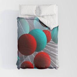 crazy lines and balls -21- Comforters