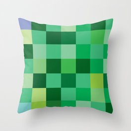 Squares of Luck Throw Pillow