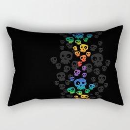Skulls Fun - rainbow/black Rectangular Pillow