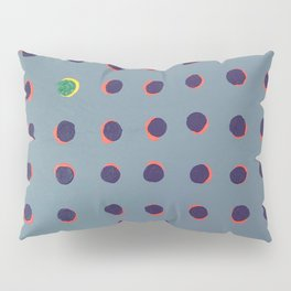 Green floats on yellow - dot graphic Pillow Sham