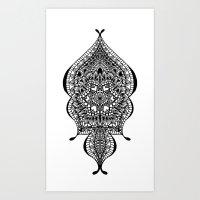 Doodle Flow Art Print