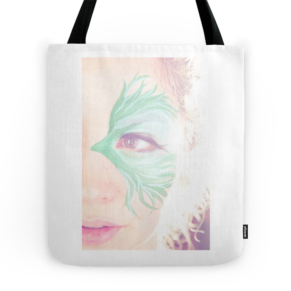 Green Eye Tote Purse by lamorerosephoto (TBG7409617) photo