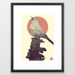 Sparrow's lament Framed Art Print