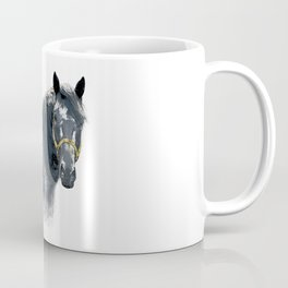 Horse with Golden Bridle Coffee Mug