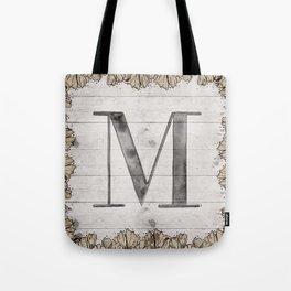 Neutral Monogram M Tote Bag