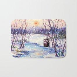 Tardis At The River Snow Bath Mat