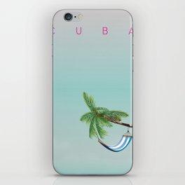 Cuba Hammock travel poster iPhone Skin