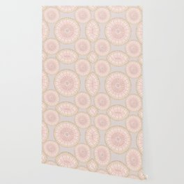 Pink And Gold Elegant Mandala Pattern Wallpaper