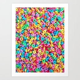 Fruit Loops Cereal Pattern Art Print