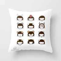 zodiac Throw Pillows featuring Zodiac  by Leeanne Illustrations