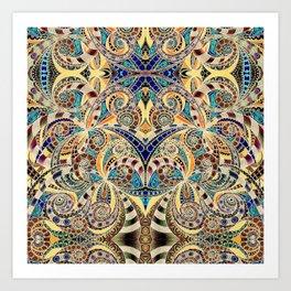Drawing Floral Zentangle G240 Art Print
