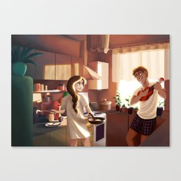 How Do You Like Your Eggs in The Morning? Canvas Print