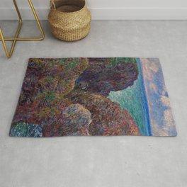 "Claude Monet ""Bloc de rochers à Port-Goulphar"" Rug"