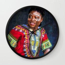 African Dancer Wall Clock