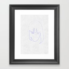 One Line Mia Wallace Framed Art Print