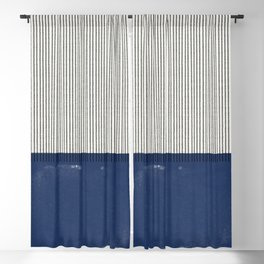 Navy Blue Mid Century  Blackout Curtain