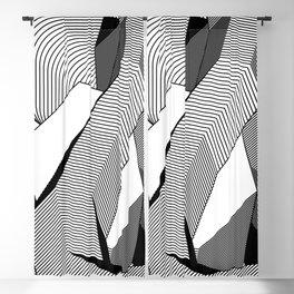 Abstract Geometric 3D Heart Blackout Curtain