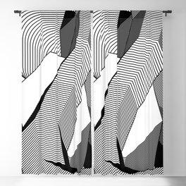Abstract Geometric 3D Heart Blackout Curtain