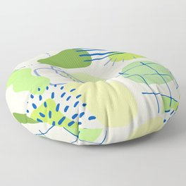 Suburbia from Above - Abstract Postmodern Retro Pattern Floor Pillow