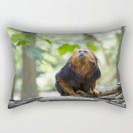 close up of Golden headed Lion Tamarin monkey Rectangular Pillow