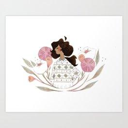 Little Rahel Art Print