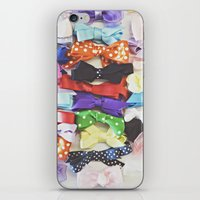 bows iPhone & iPod Skins featuring Bows by Libertad Leal Photography